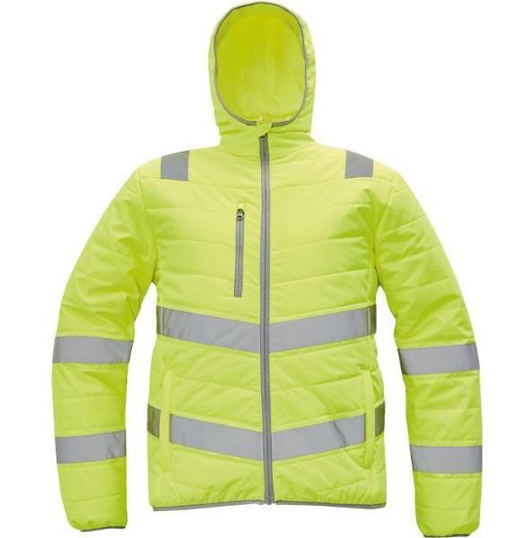 MONTROSE HV reflexní zimní bunda žlutá