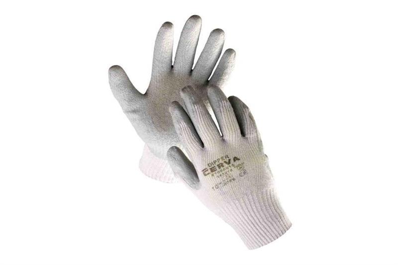 DIPPER pracovní rukavice polomáčené