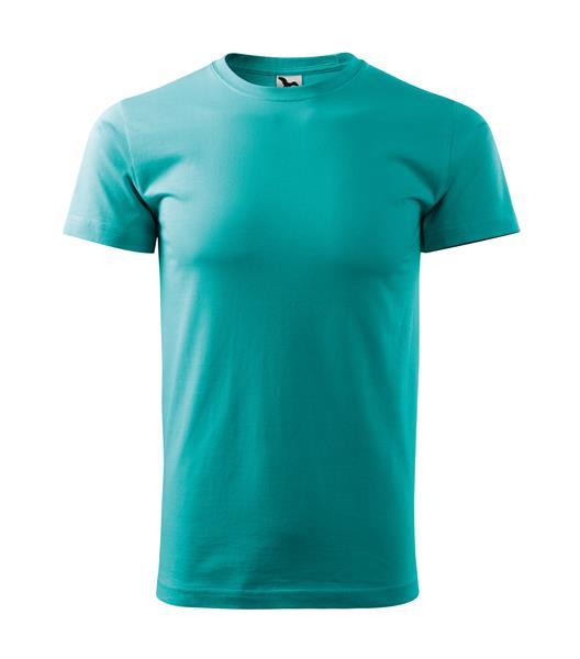 tričko barevné Basic160gr, kulatý výstřih - emerald