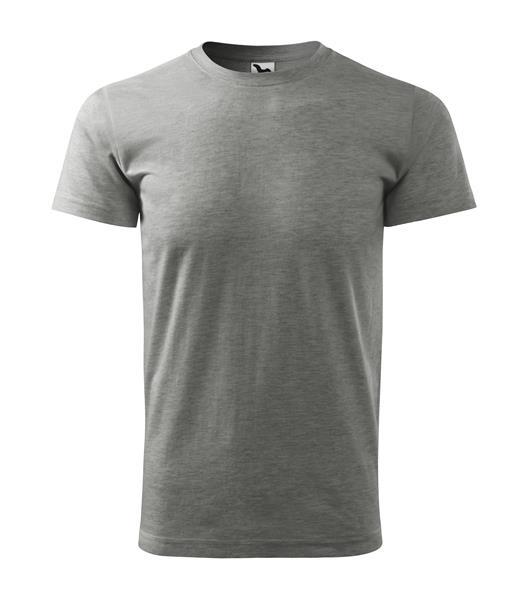tričko barevné Basic 160gr, kulatý výstřih-tmavý melír,