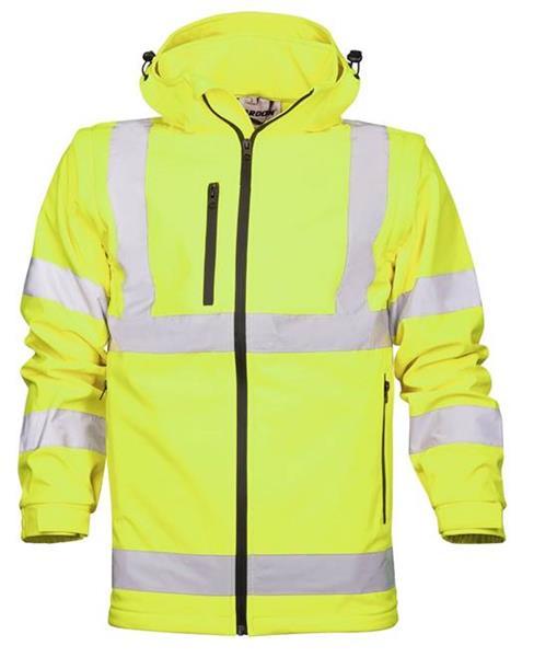 softshellová výstražná bunda H8905 žlutá
