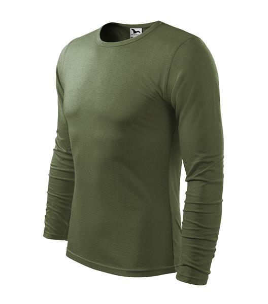 pánské tričko 160gr, kulatý výstřih dlouhý rukáv - khaki