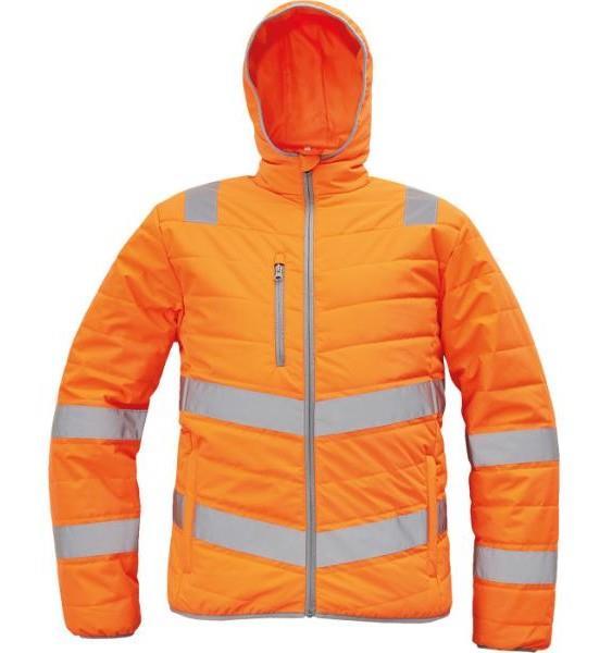 MONTROSE HV reflexní zimní bunda oranžová