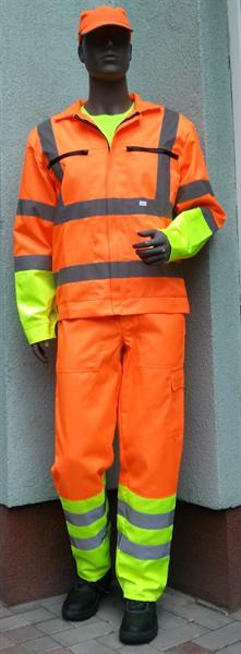 výstražný oděv podle směrnice ŘSD - blůza+laclové kalhoty
