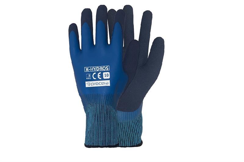 HYDROS pracovní rukavice celomáčené v latexu