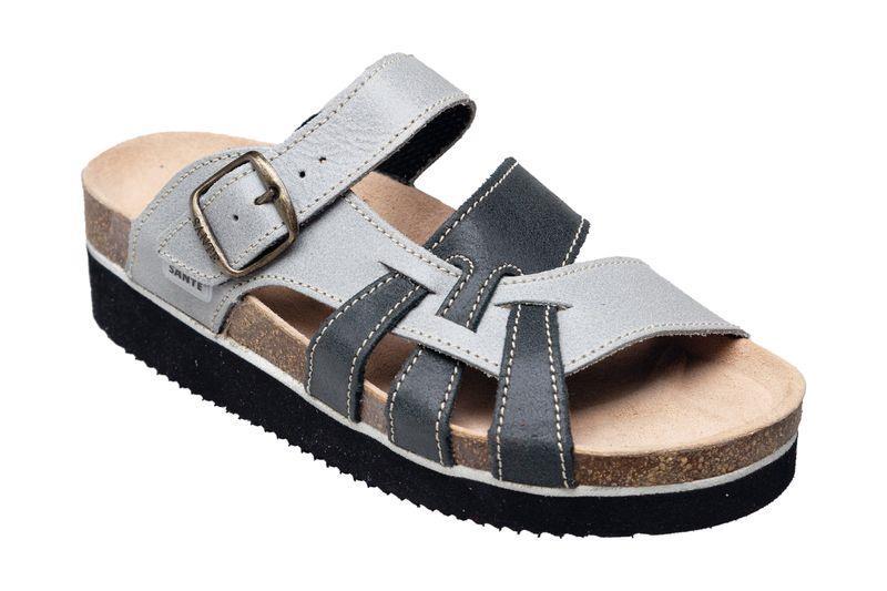SANTÉ N/240/9/19/69/H/K/CP pantofle zdravotní dámské na klínku s mezipodešví