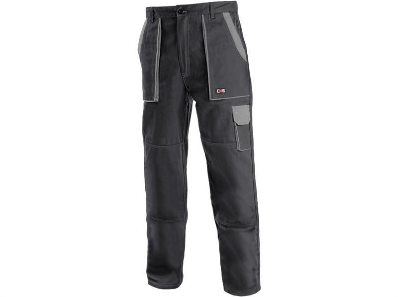 montérkové kalhoty Lux pasové černo-šedé-Canis