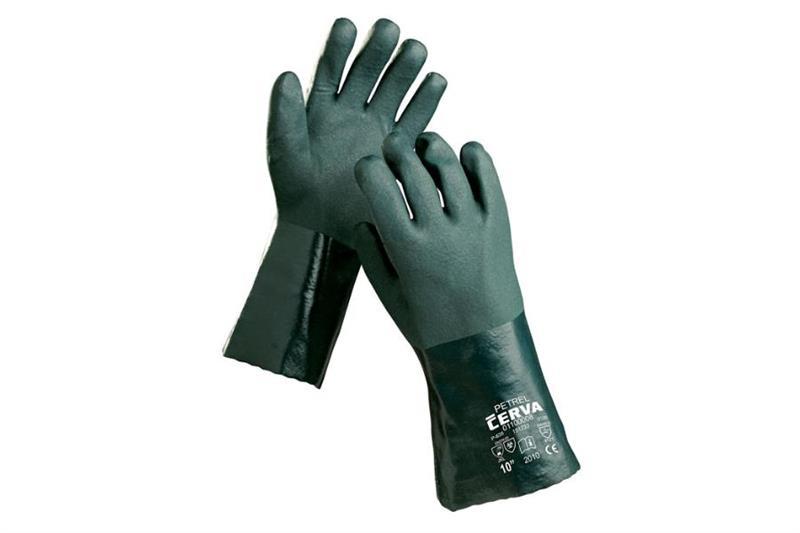 PETREL pracovní rukavice máčené, 35cm