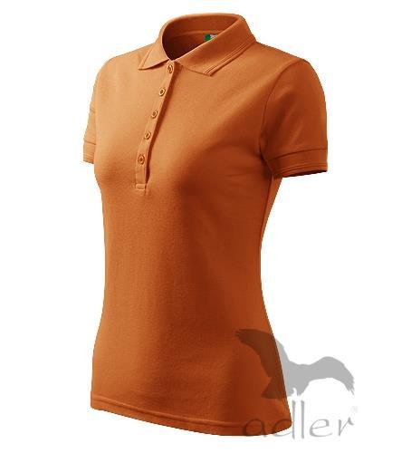 210 Polokošile dámská Pique Polo 200 oranžová