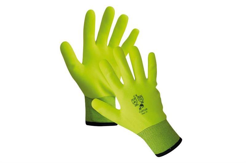 TURTUR zimní rukavice polomáčené v PVC
