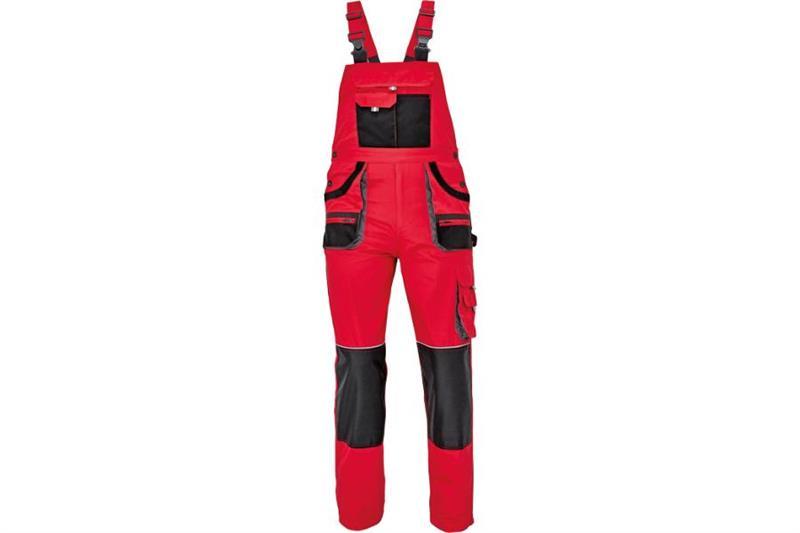 CERVA  F&F CARL montérkové kalhoty s laclem červené