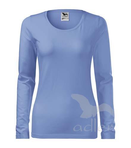 triko dámské, dlouhý rukáv, 180gr nebesky modrá