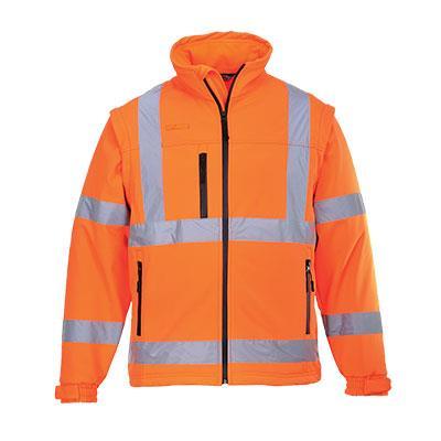 softshellová výstražná bunda S424 oranžová,