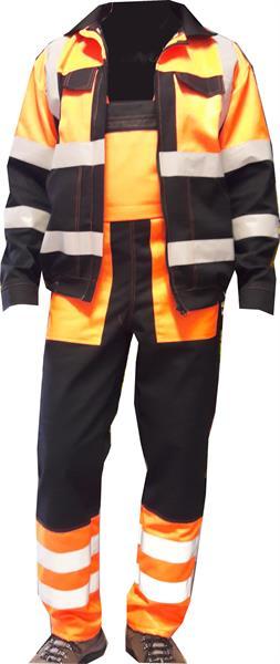 Výstražný oděv blůza a laclové kalhoty s reflexními pruhy
