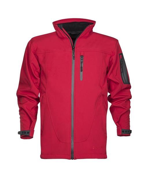 pánská softshellová bunda - pracovní  - SPIRIT červená