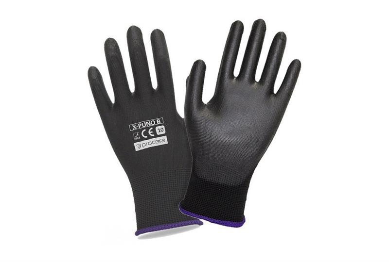 PUNO black rukavice povrstvené polyuretanem