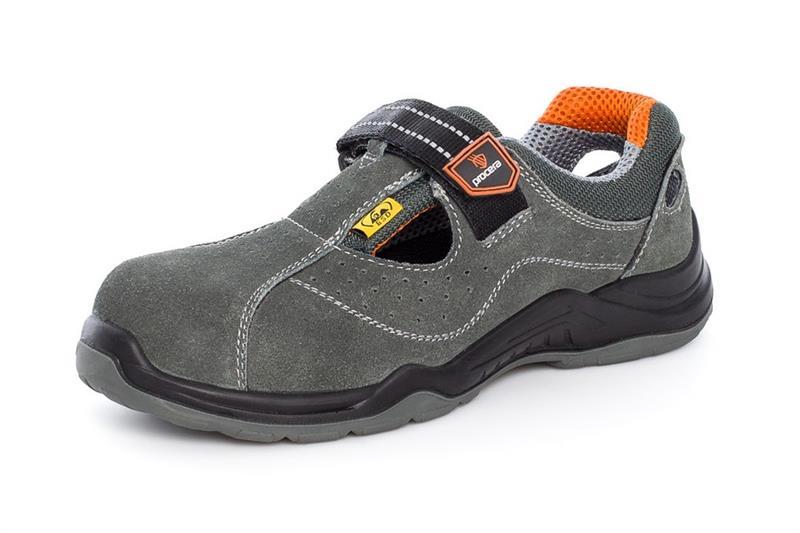 LUPO S1 sandály s kompozitní ochrannou špičkou a vlastnostmi ESD