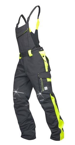 kalhoty laclové Neon černo-žluté
