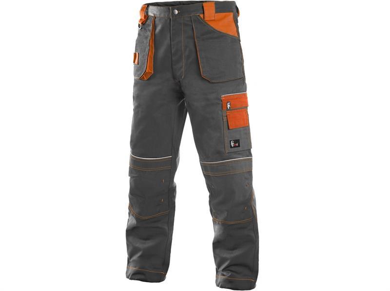 montérkové kalhoty pasové šedo/oranžové Teodor - Canis