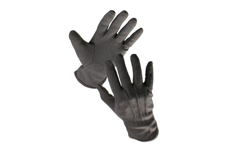 BUSTARD pracovní rukavice bavlněné s PVC terčíky, černé