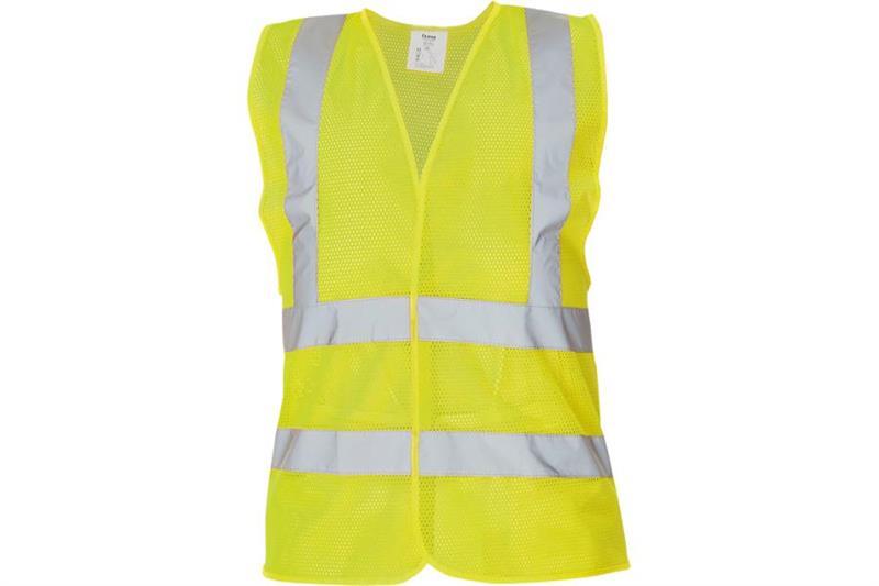 Výstražná vesta žlutá děrovaná QUOLL