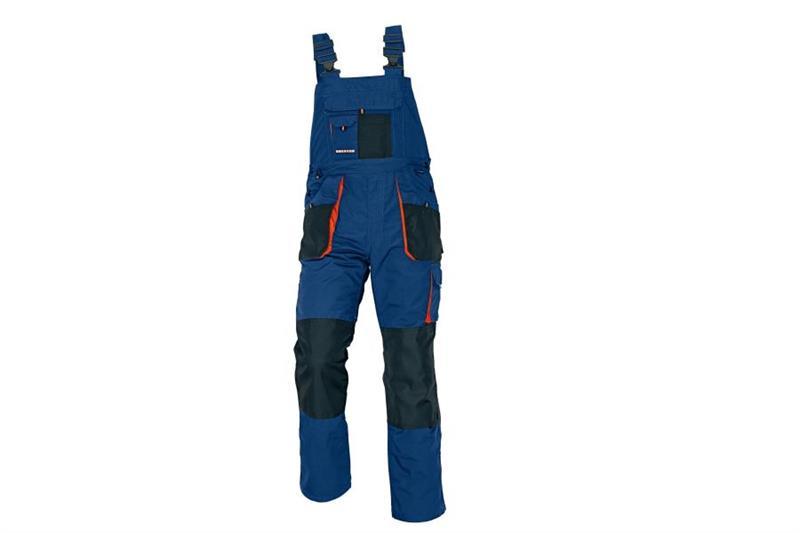 pracovní oděvy-montérkové laclové kalhoty  vzor Emerton modré