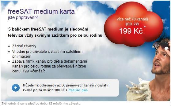 freeSAT medium karta - pro každého s vlastním přijímačem