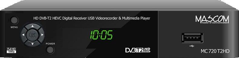 Mascom MC 750T2, HD DVB-T2 H265/HEVC