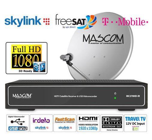 HDTV komplet MC270 stříbrný, 1 družice