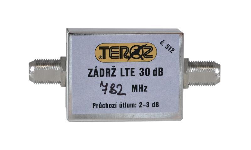 LTE zádrž Teroz 512, 0-782 MHz, 30 dB