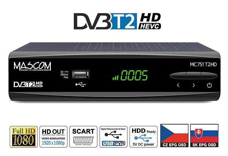 MASCOM MC751 T2HD IPTV DVB-T2 H.265/HEVC