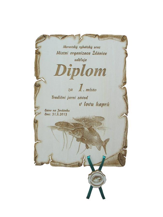 Diploma fishing competitions no 759 | Truhlářství