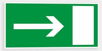Bezpečnostní tabulka - Únikový východ oboustranný