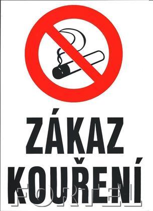 Bezpečnostní tabulka - Zákaz kouření