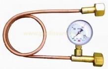Přepouštěcí trubka CO2 s manometrem
