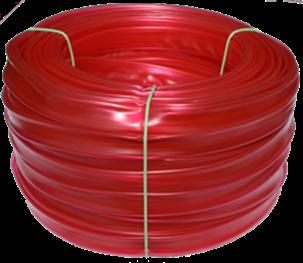 Bužírka transparentní průhledně červená