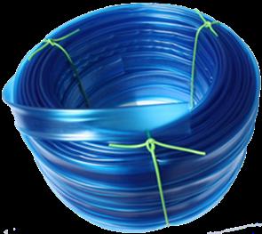 Bužírka transparentní průhledně modrá