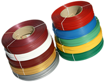 Kotouče klipovací pásky v různých barvách