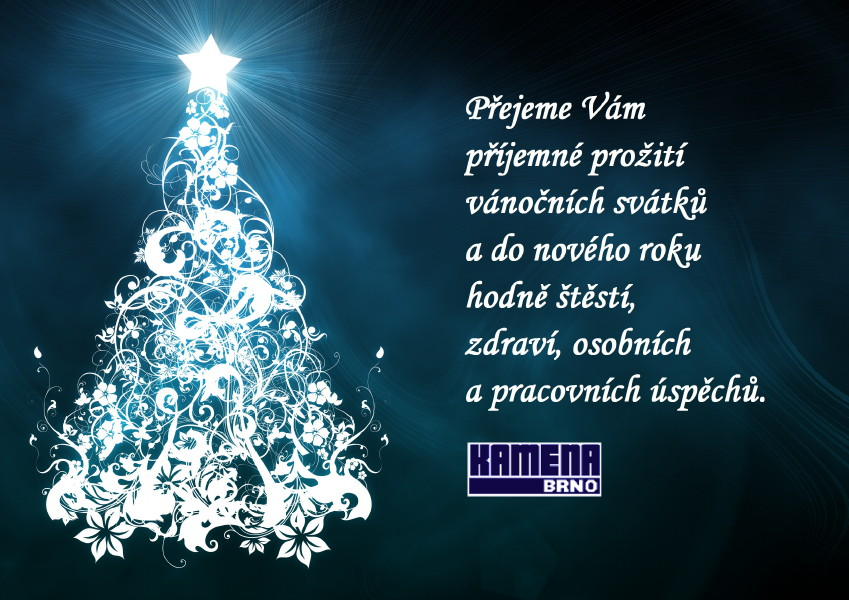 Přejeme Vámpříjemné prožitívánočních svátků a do nového rokuhodně štěstí,zdraví, osobnícha pracovních úspěchů.