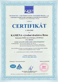 Certifikát ISO