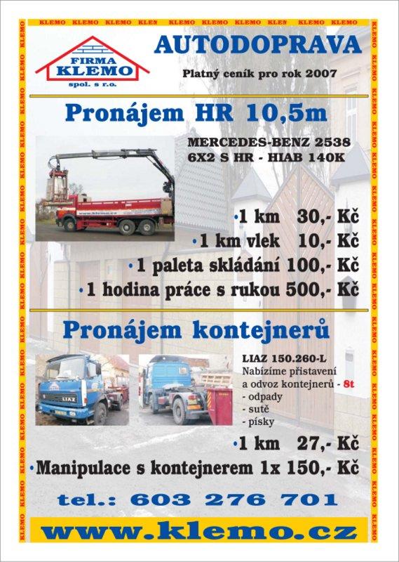 Autodoprava - nabídka