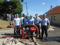 Hlína - soutěž hasičů 13.6.2009