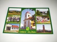 Pohlednice obce Hlína - zelená