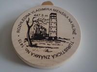 Turistická známka Rozhledna Vladimíra Menšíka na Hlíně