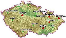 Mapka České Republiky