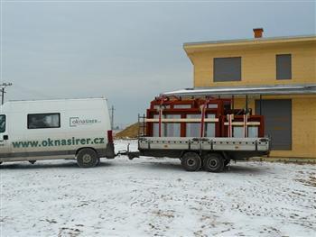 Transport dřevěných oken
