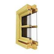 Špaletová okna s izolačním dvojsklem.
