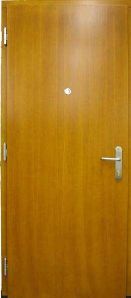 Hladké vchodové dveře s kukátkem
