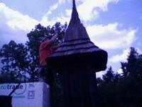 zvonička ze šindelů