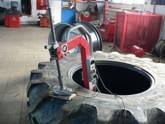 Oprava bočního průrazu traktorové pneu thermopressem